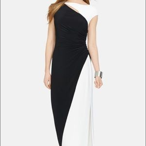 Ralph Lauren Black/White Two Toned Gown Size 6